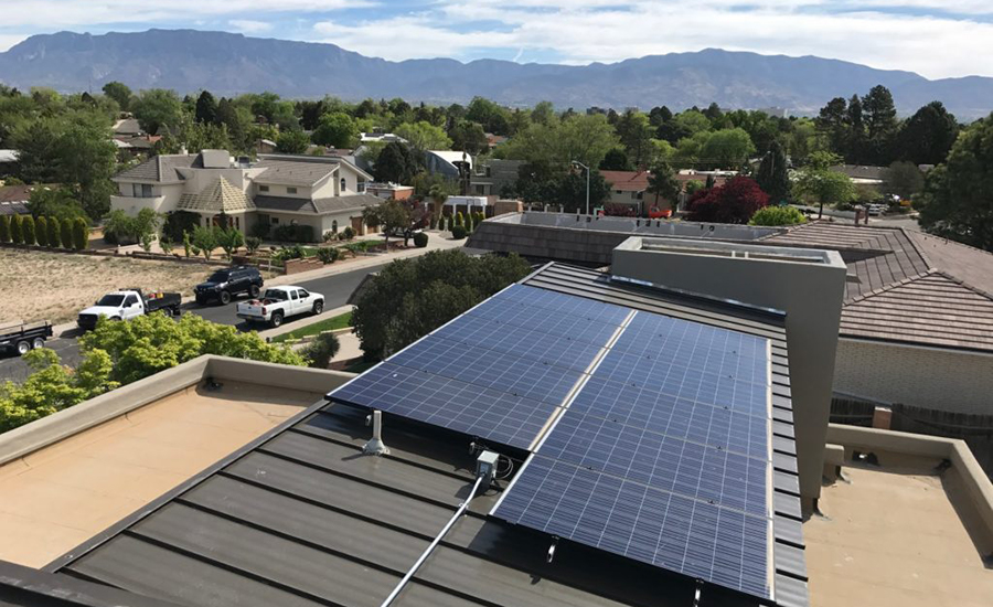 Residential solar panels installed in Albuquerque, NM